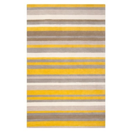 pinned this madison square rug in yellow from the dandelion dove