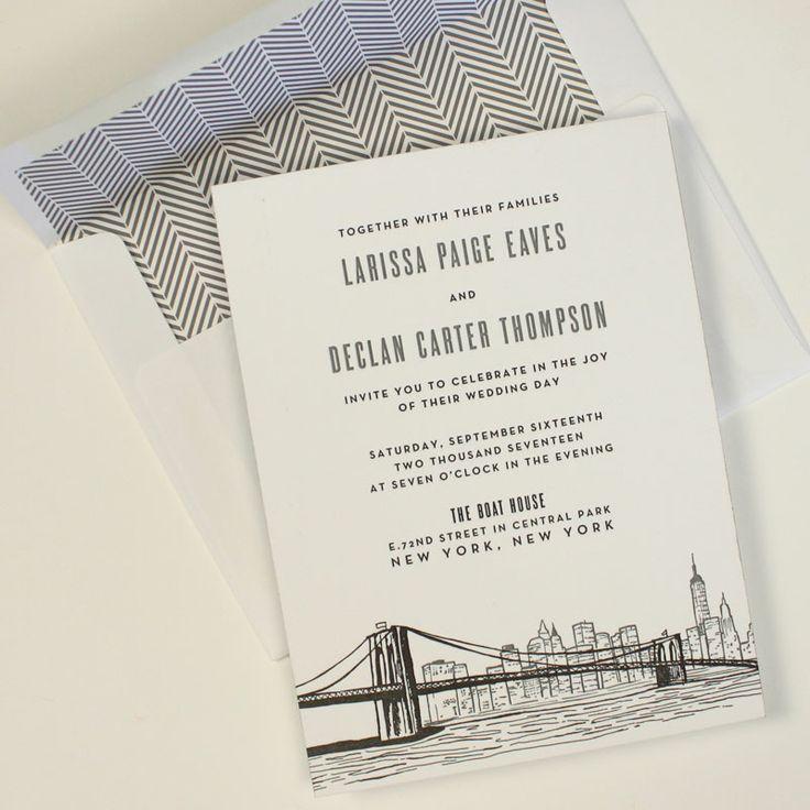 Fresh ink new york wedding invitation wedding for Wedding invitation companies nyc