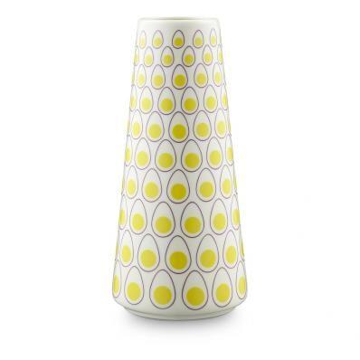 Casalinga gul egg dot vase fra casalinga