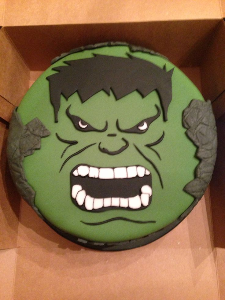 Incredible Hulk Cake I made  . my cake design .  Pinterest