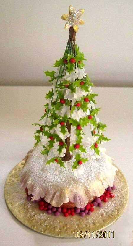 Christmas Cake Ideas Pinterest : Christmas cake! Holiday! Pinterest