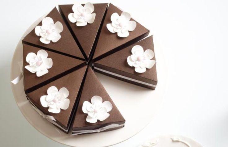 Modern Wedding Bonbonniere Ideas : Wedding cake diy bonbonniere boxes