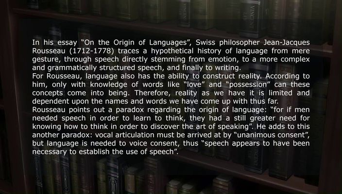 essay on the origin of languages jean-jacques rosseau