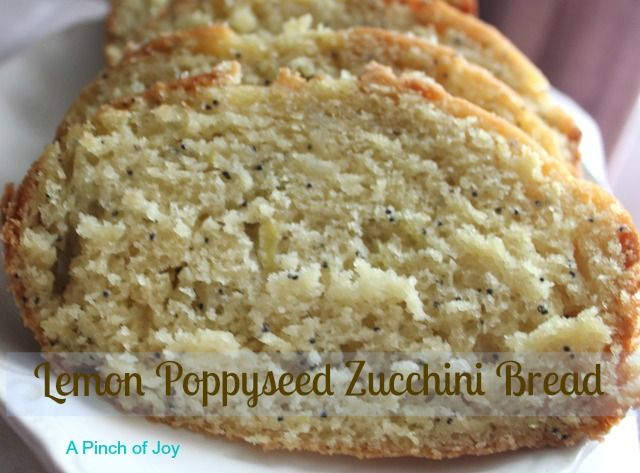 Lemon Poppyseed Zucchini Bread   Fun with food - recipes   Pinterest