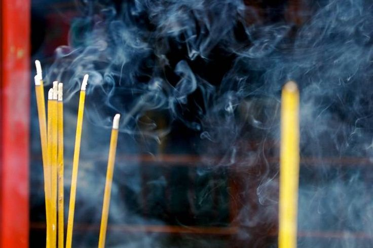 watercolor painting idea- incense sticks
