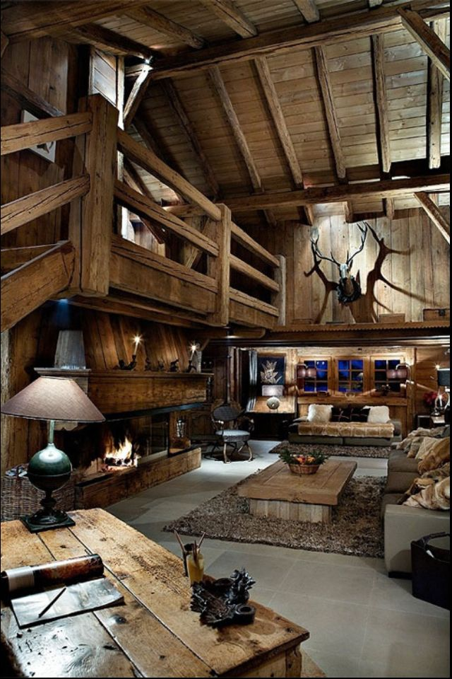 Indoor Log Cabin Architecture And Home Decor Pinterest