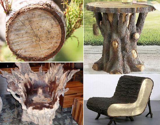 tree stump furniture - Google Search  Slab and log furniture ...