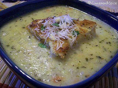Cauliflower Romano and Garlic Soup