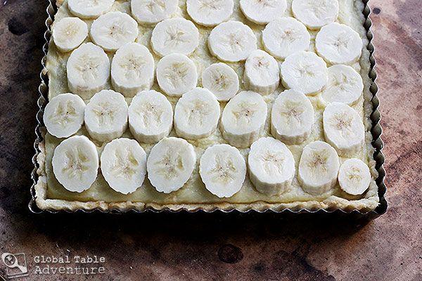 Creamy Coconut & Banana Tart Recipe — Dishmaps