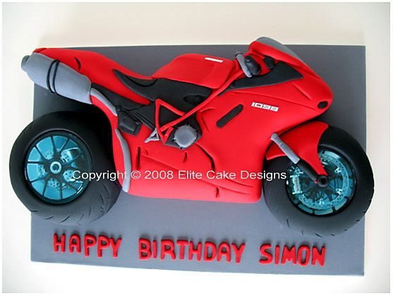 Motorbike template for cake