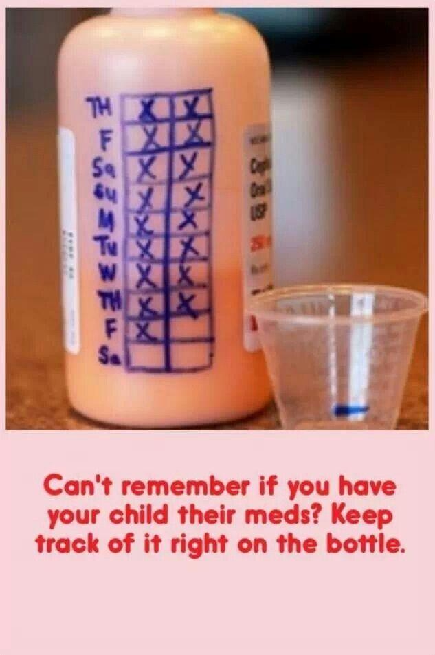 Keep track of kid's medicine