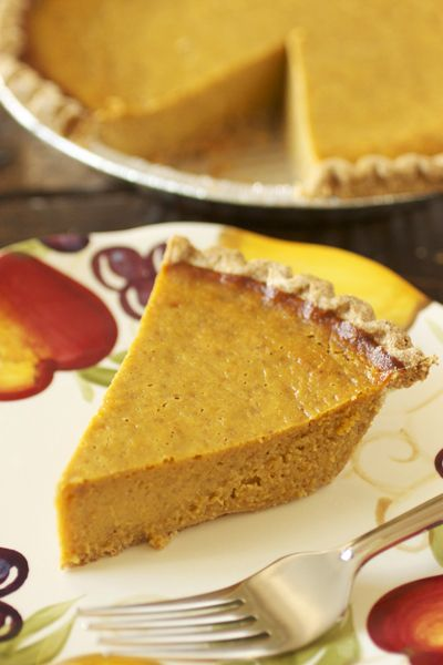 Spiced Pumpkin Pie | Cookin' Skinny | Thanksgiving | Pinterest