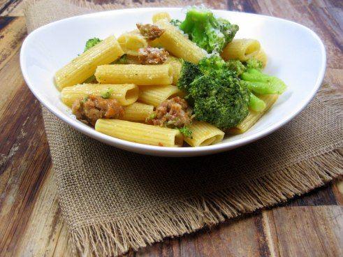 Lemony Rigatoni with Broccoli and Sausage - Just the Tip