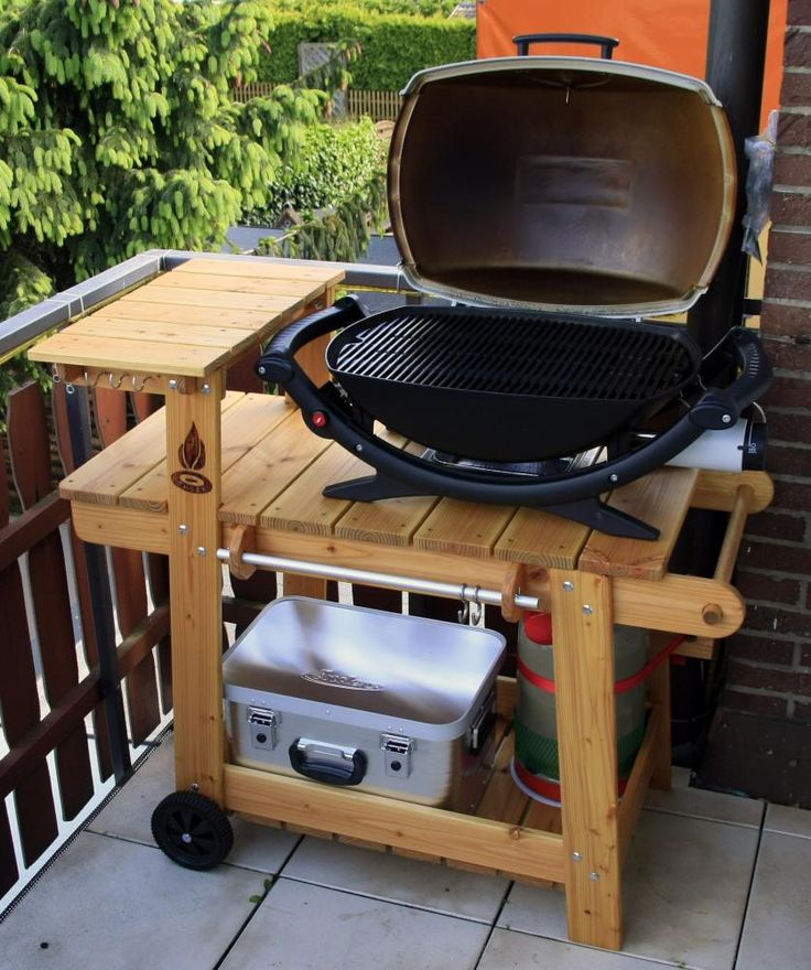 I love this grill stand! : furniture and woodworking : Pinterest
