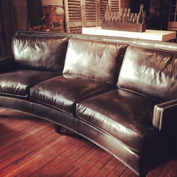 Curved Leather Sofa Home Inspiration Pinterest