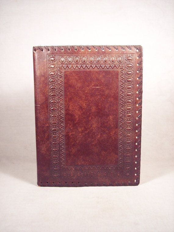 Tooled Leather Book Booklet Jacket Cover by SnapshotsThroughTime