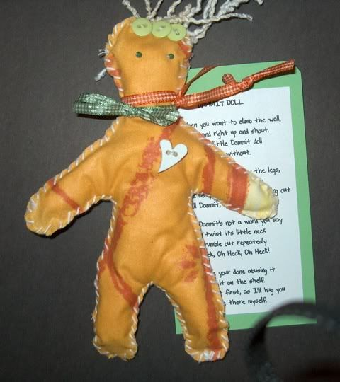 Cute idea dammit doll with cute poem there s a link at the bottom