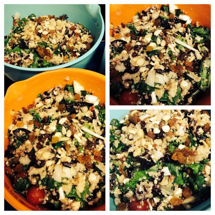 Citrus Quinoa Salad! Spring mix, golden raisins, dried cranberries ...