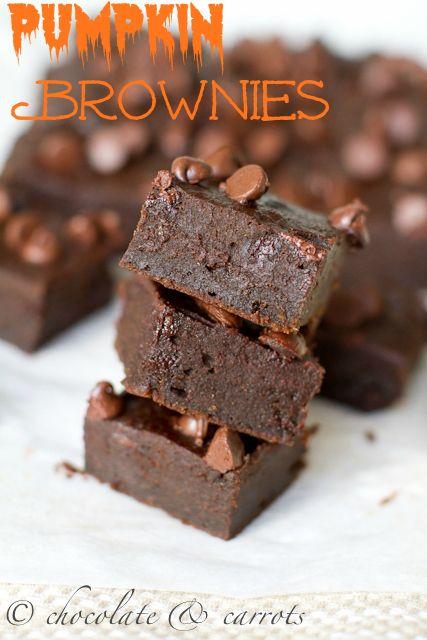 Pumpkin Brownies | JUST HALLOWEEN | Pinterest