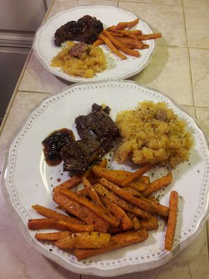 Knight Food: Spicy Plum Chutney Venison Chops & Sweet Potato Fries