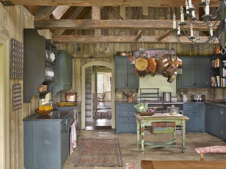 Federal blue cottage style kitchen decorating ideas for Federal style kitchen