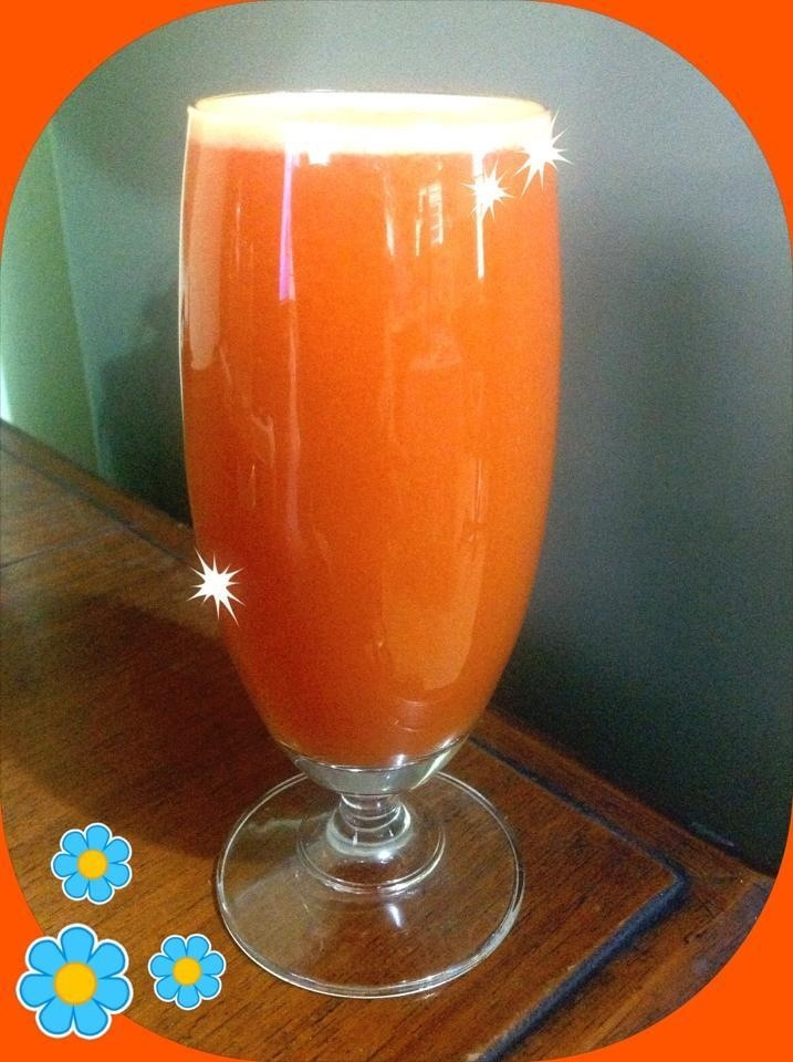 Tomatoish Vegetable Juice: Tomato Cucumber Carrot Red Pepper Celery ...