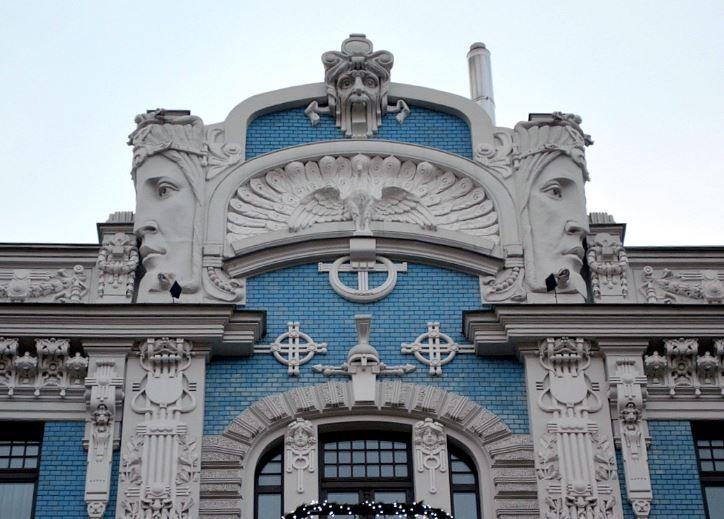 Art nouveau architecture in riga art nouveau i love for Architecture art nouveau
