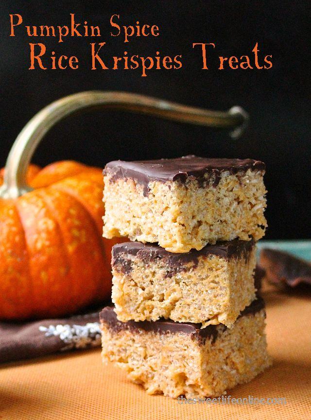 Pumpkin Spice Rice Krispies Treats - The Sweet Life