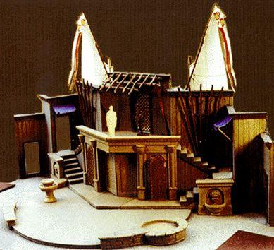 Scenic model for twelfth night theatre scenery design for Theatre model