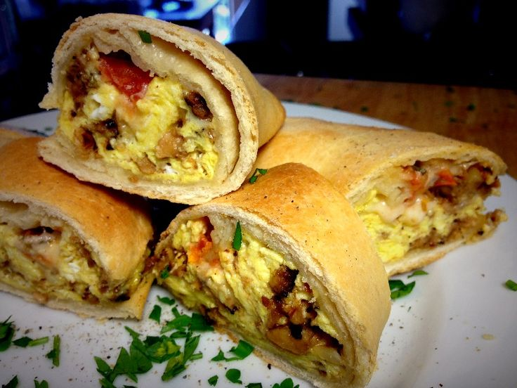 Eggy-Weggy Breakfast Pizza Roll-Up or Wrap