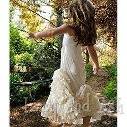 pixie girl cream swirly ruffles maxi dress