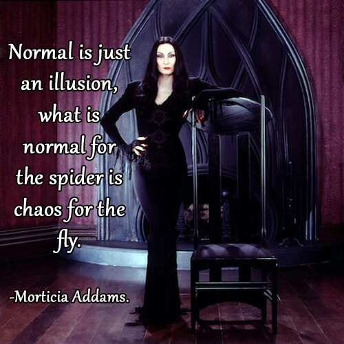 Normal....illusion...morticia addams   Witch craft   Pinterest