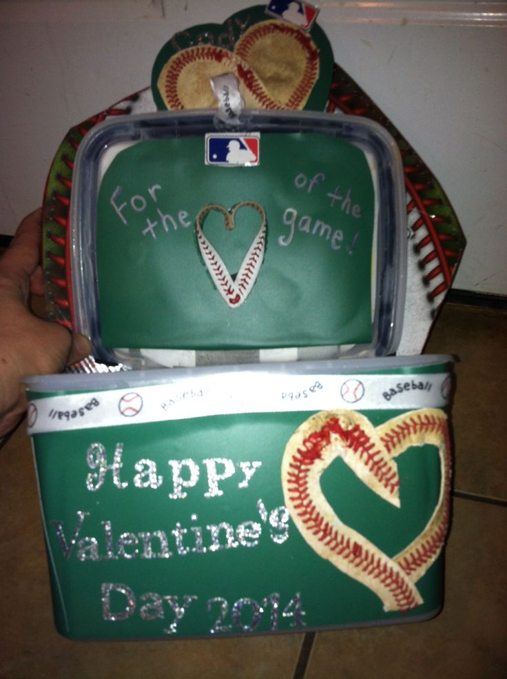 valentine box baseball