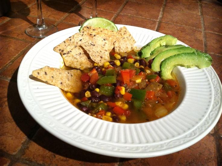 Spicy Vegan Tortilla Soup #vegan #mexican