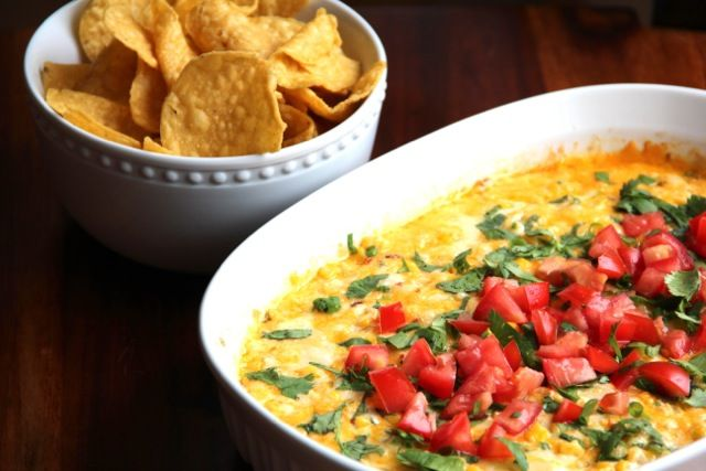 Hot Corn Dip - cheddar cheese, jack cheese, chipotle in adobo ...