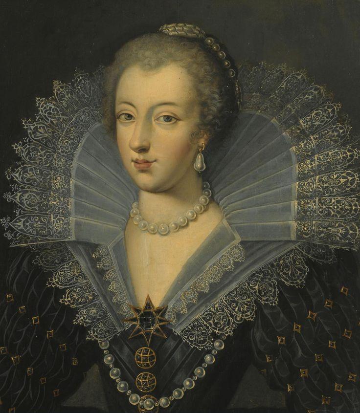 La reine Anne d'Autriche by Frans Pourbus the Younger   Grand Ladies   gogm