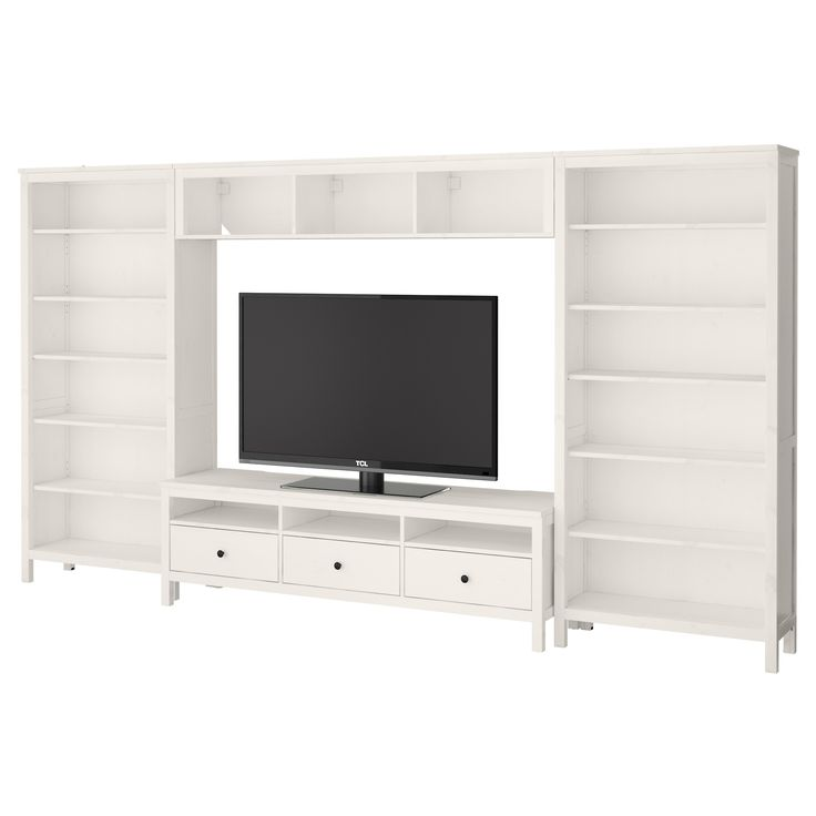 Hemnes Tv Unit White Stain : HEMNES TV storage combination, blackbrown