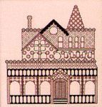free chart victorian house blackwork
