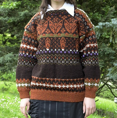 Fox sweater by Dale of Norway  -- these are the perfect colors for this design!