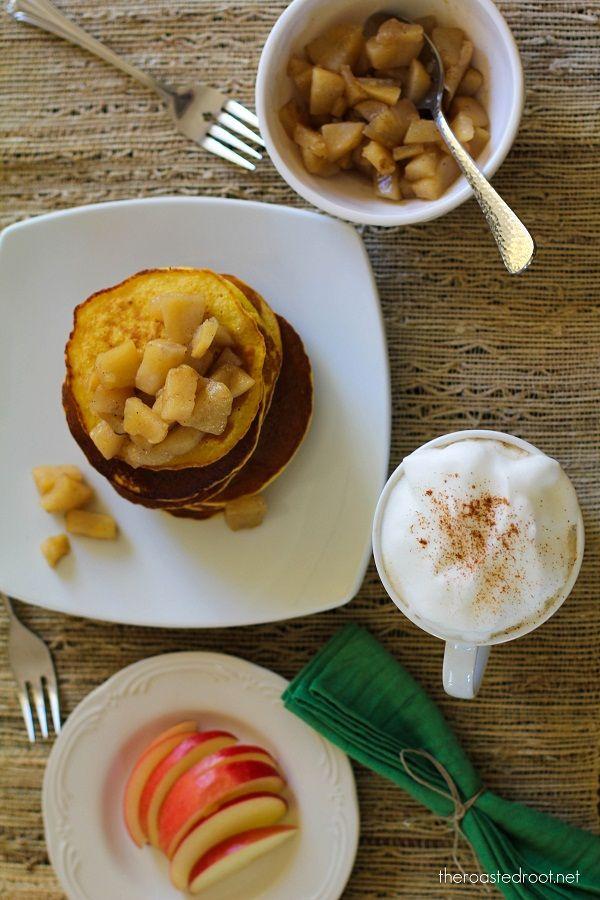 Garbanzo Bean Flour Pancakes with Caramalized Cardamom Pears (gluten ...