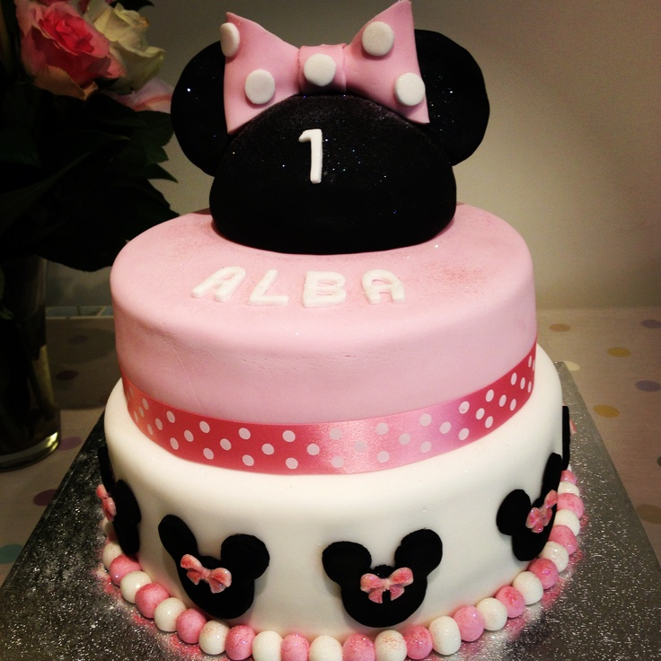 1st Birthday Cake Png Minnie Mouse 1st Birthday Cake
