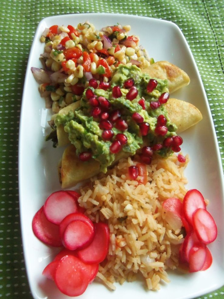 Tilapia Taquitos with Roasted Garlic Guacamole - Hispanic Kitchen