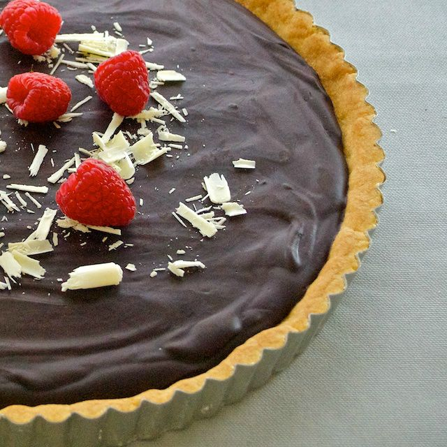 """Bittersweet Chocolate Tart by: Nick Malgieri, from his book """"The ..."""