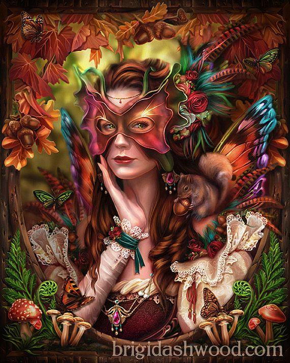 *+*Mystickal Faerie Folke*+*...Autumn Queen Fairy...By Artist Brigidashwood...