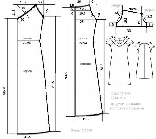 Простое летнее платье без выкройки своими руками 54