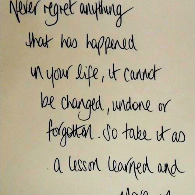 Live With No Regrets Quotes. QuotesGram
