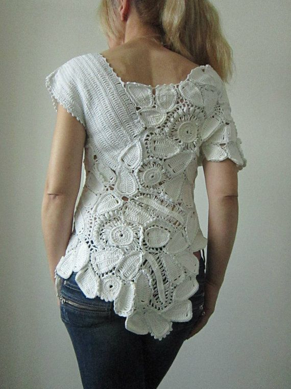 Freeform Crochet Blouse 5