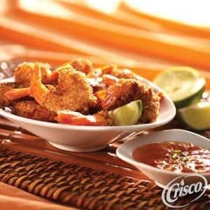 Crunchy Coconut Shrimp with Sweet Orange Marmalade Sauce from Crisco®