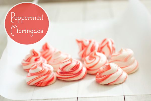 Peppermint Meringues YIELD: 24 cookies Light, airy peppermint meringue ...