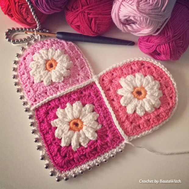 valentine heart knitting patterns